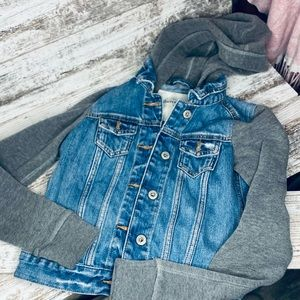 Abercrombie Youth Hooded Jean Jacket